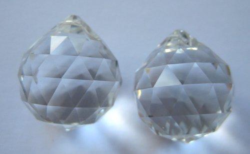 2x Kugel 20mm Facette SPECTRA® CRYSTAL von Swarovski für Lüster - Kronleuchter - Regenbogenkristall - Feng Shui