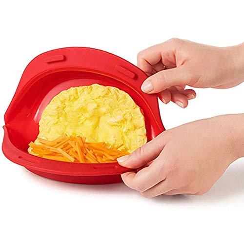 Mikrowellen Omelett Maker, Eierkocher Eierbrötchen Für Pochierte Eier, Antihaft Silikon Omelett Maker, Schnelle Omelett Hersteller für Mikrowelle (One)