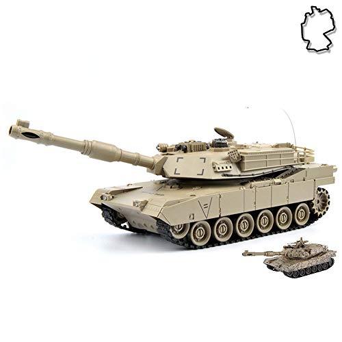 HSP Himoto M1A2 Abrams US.Army 2.4GHz RC Ferngesteuerter Panzer Tank, Kettenfahrzeug mit viele Funktionen, Schusssimulation, Sound- und Lichteffekte, Komplett-Set