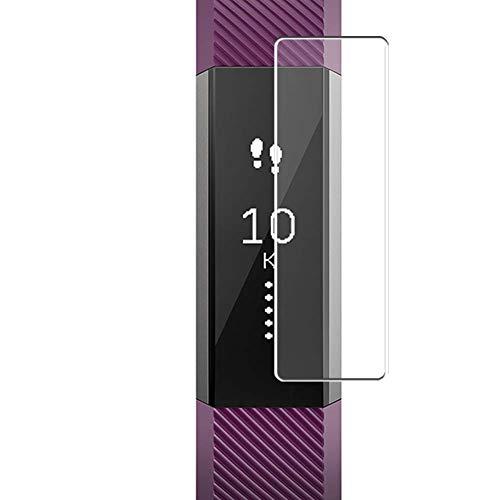 Vaxson 4 Unidades Protector de Pantalla, compatible con Fitbit Alta/Fitbit Alta HR [No Vidrio Templado] TPU Película Protectora