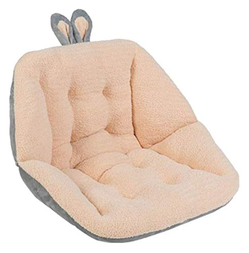 Plaza de silla de peluche con soporte lumbar de respaldo reversible espesado acolchado acolchado acolchado almohada para la silla para la silla mecedora del coche de oficina Sillón Sillón Sofá