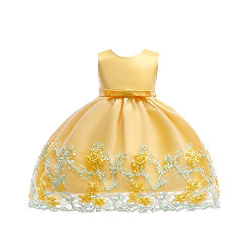 LZH ベビードレス 赤ちゃんワンピース 結婚式 セレモニードレス 刺繍 花柄 フォーマル チュチュ ドレス お宮参り 発表会 結婚式 演奏会 七五三 お誕生日 記念写真