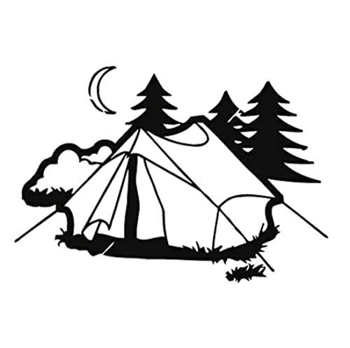 Cbhsjinsuxha 4 Piezas Pegatinas de Coche 17.9 CM * 12.2 CM Pegatinas de Coche Tienda Camping Naturaleza Accesorios de Coche Pegatinas