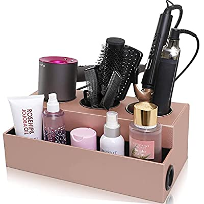 IKORA Hair Dryer Tool Holder - Bathroom Storage & countertop Organizer - Curling Iron, Straightener, Blow Dryer Stand - Hair Styling Station for Accessories, hot Tools, hairdryer & Hair Products