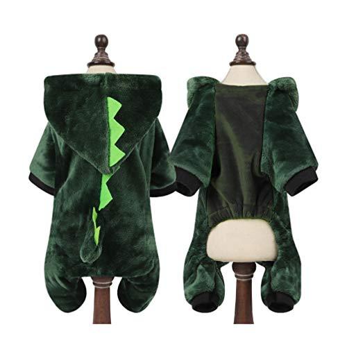 Balacoo Costume da Dinosauro per Cane di Halloween Divertente Caldo Adorabile Vacanza Adorabile Costume da Cane Carino Costume Cosplay Vestiti per Cani