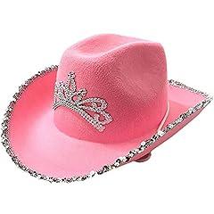 Ruluti 1pc Western-Art-cowboyhut Glitter Country