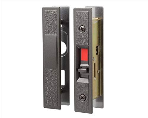 日中製作所 玄関用 取替引違戸錠 室内側からのみ施・解錠操作ができる ブロンズ GA-800F-B