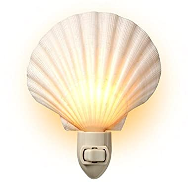 Natural Seashell Night Light - Beach Decor - by Tumbler Home