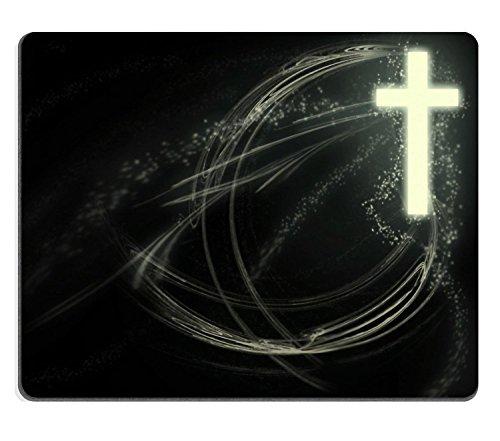 Christian Christ Cross Religion Jesus Mauspads Maßgeschneidert auf Bestellung Hochwertiges, umweltfreundliches Tuch mit Neopren-Gummi Liil Mauspad Desktop Mousepad Laptop Mousepads Komfortable Compute