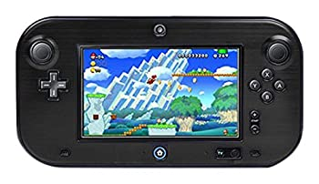 TNP Products Full Body Plastic and Aluminum Snap-on Hard Shell Skin cover for Nintendo Wii U Gamepad Remote Controller Black