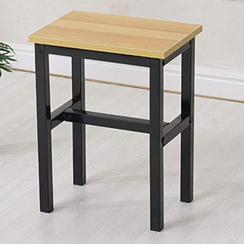 Chinesischer Stil Holzhocker Stuhl moderne Familie Wohnzimmer Metall quadratischen Hocker, einfache Mode Sideboard Hypertrophie B¨¹rohocker Erwachsenen hohen Hocker Schlafzimmer Computer Stuhl