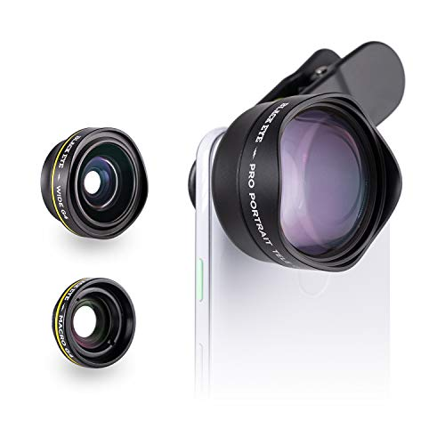 Phone Lenses by Black Eye || Travel Kit G4 Lens Compatible with iPhone, iPad, Samsung Galaxy, and All Camera Phone Models