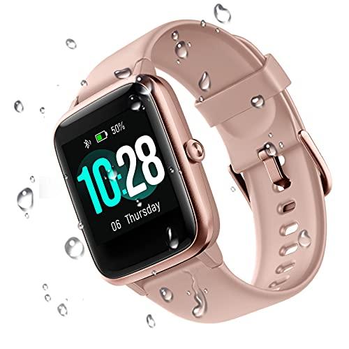 GOIACII Smartwatch Hombre Mujer, Reloj Inteligente Impermeable Pulsera Actividad con Monitor de Sueño Pulsómetros Podómetro Contador de Calorí