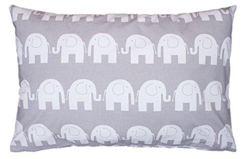 Amilian® Dekokissen Kissenbezug Kissen 40cm x 60cm Elefant Grau