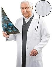 معطف طبي من سيلفر كير بلاس مضاد للبكتيريا، مدعوم من اكس ستاتيك، ابيض، مقاس XL