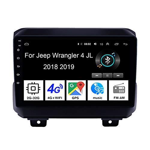 Android 10 Stereo 9 Pollici Hd Touch Screen Multimedia Radio Navigatore GPS Per Jeep Wrangler 4 JL 2018 2019 Collega E Usa Bluetooth Vivavoce Controllo Del Volante Telecamera Posteriore