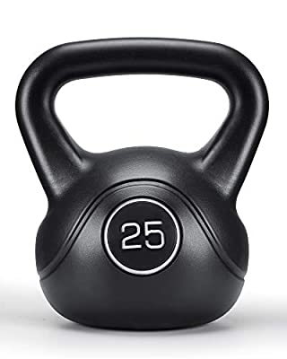 MaxKare 25lbs Kettlebell with HDPE Handle Workout Equipment Professional Olympic Core Strength Training Weightlift Fitness Home Gym by MaxKare