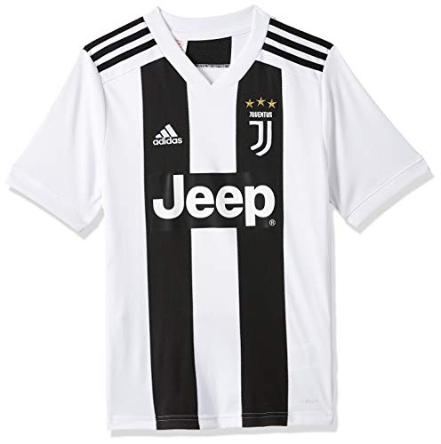 adidas Juve H JSY Y T-Shirt da Calcio, Bambino, Black/White, 13-14 Anni