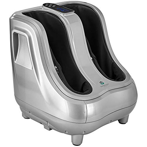 Shiatsu Heated Foot and Calf Massager Machine to Relieve Tired Feet, Calfs and Legs, Deep Kneading Therapy, Relaxation Vibration and Rolling and Relieves Plantar Fasciitis, Diabetics, Neuropathy