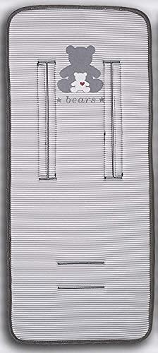 Colchoneta Silla Paseo Universal Recta (Osito gris)