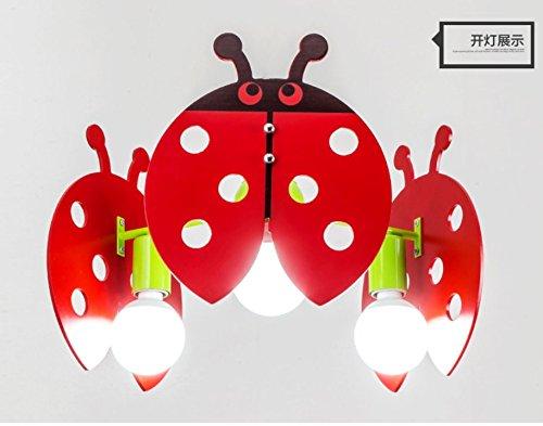 owow simple moderne salle pour enfants merveilleux et refroidir le sept étoiles Ladybug Cartoon 3 Princess plafonnier pour les garçons ou filles séjour Décoration plein d'imagination, 45 cm