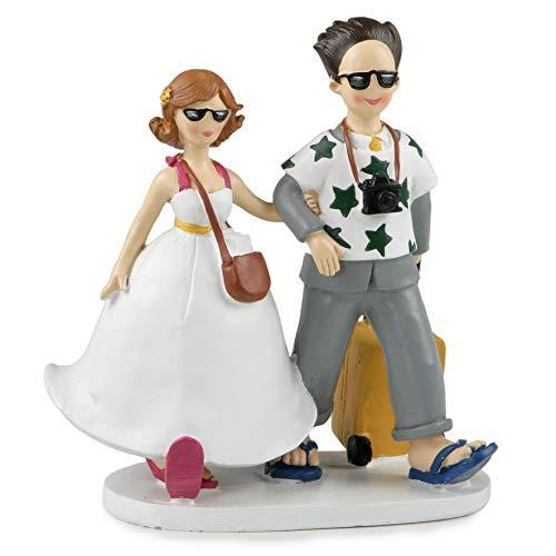 Mopec y572Pastel-Couple di sposate viaggiatori 19cm