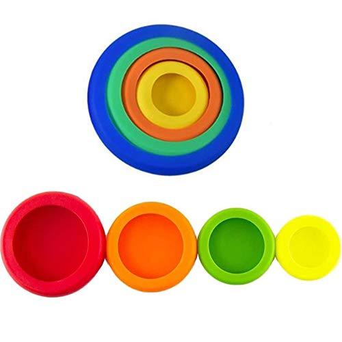 8 tapas de silicona reutilizables de varios tamaños de tapones de silicona para verduras y frutas