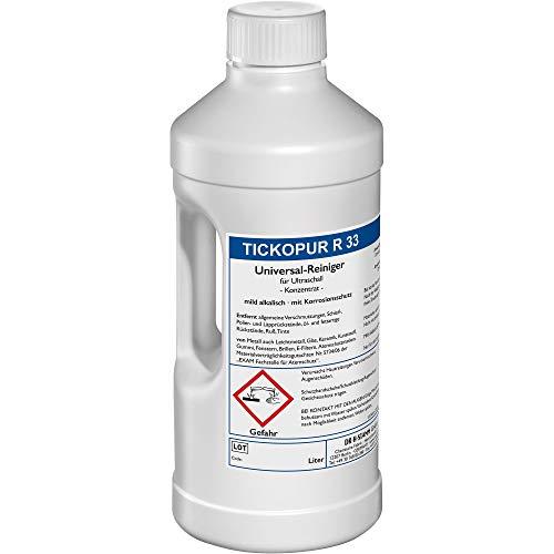 Tickopur R 33 (2 liter), Ultraschallflüssigkeit für Vergaser und vieles mehr   Reinigungskonzentrat mit Dosierung von 5 Prozent, Ultraschall Reinigungsmittel für Aluminium