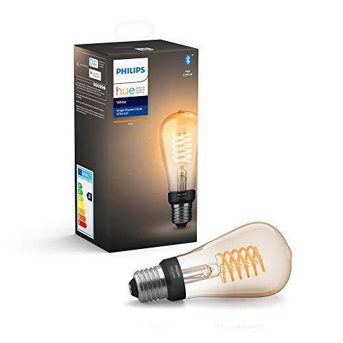 Philips Hue White Filament Single Smart LED ST64 Bulb [E27 Edison Screw]...