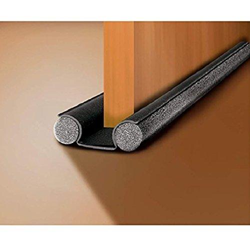 Universele deurafdichting met dubbele zijkanten en ingebouwde schermbeveiliging – grijs Luftzugstopper