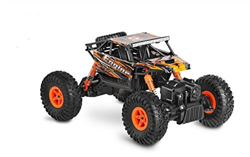 SZJJX RC Cars Rock Off-Road Vehicle Crawler Truck 2.4Ghz 4WD High Speed 1:18 Radio Remote Control Racing Cars Electric Fast Race Buggy Hobby Car-Orange