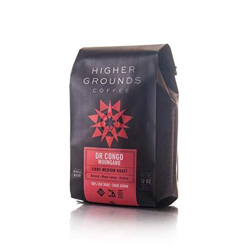 Higher Grounds Organic DR Congo Muungano, Fair Trade Light Medium Roast, Ground Coffee (Auto Drip )