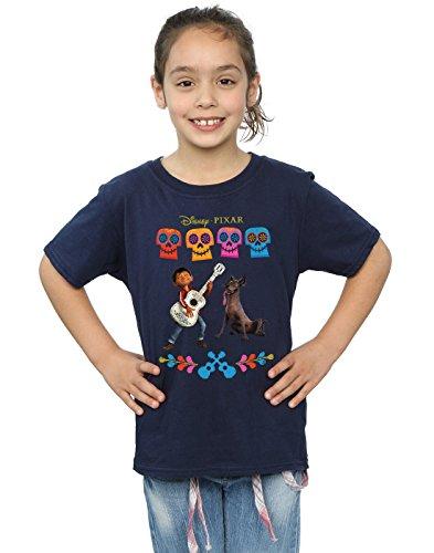 Disney niñas Coco Miguel Logo Camiseta 5-6 Years Armada