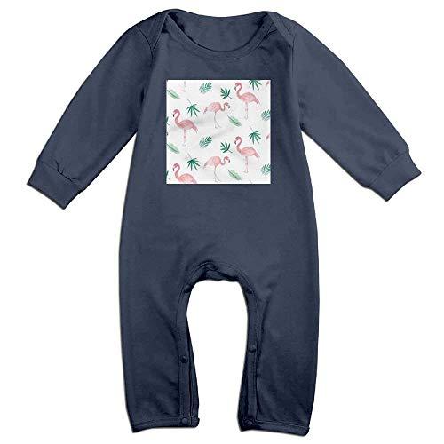SDGSS Combinaison Bébé Cute Flamingo Stylish Baby Girl Boy Crawling Cartoon Baby Jumper