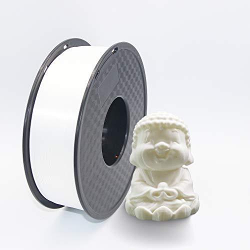 Filament PLA 3D-Drucker Filament 1,75 mm Toleranzgenauigkeit +/- 0,02 mm PLA 3D-Drucker Filament 1 kg Spule (2,2 lbs) für 1,75 mm FDM 3D-Drucker (Weiß)