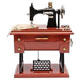 木製 オルゴール 足踏みミシンオルゴールのホームインテリアファッションアクセサリーアンティークギフト音楽教育玩具 最高の贈り物 (Color : One color, Size : One size)