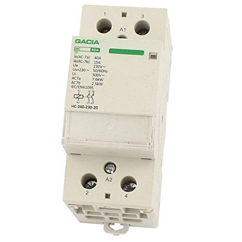 HC-40A / 2P hogar 2-Fase Polo AC bobina del contactor 220 /...