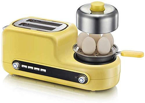 WYZXR Brotmaschinenfrühstück, Edelstahl-Brotmaschine, Brotbackautomat mit Fruchtnussspender, Antihaft-Keramikpfanne