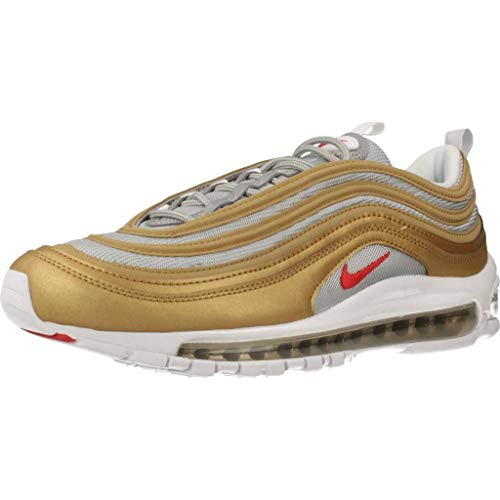 Nike Herren Air Max 97 SSL BV0306-700 Sneaker, Metallic Gold University Red Metallic Silver, 44 EU