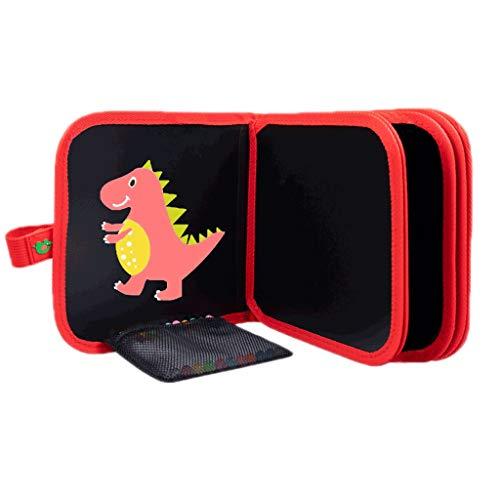 HMEI Tablero de Dibujo Creativo Tablero de Dibujo magnético para niños, Tablero de Dibujo borrable portátil, para Graffiti, Escritura, Dibujo (Color : Red Dinosaur 14 Pages)