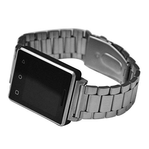 Shuusisses Reloj Inteligente Watch - Reloj Bluetooth Mp3Reloj Bluetooth Musica - Reloj Inteligente & Reproducción De Vídeo MP4 / Cámara Remota Bluetooth Plata MUJG7