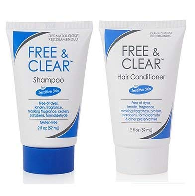 Free & Clear Shampoo and Conditioner, 2 Ounce Travel Size