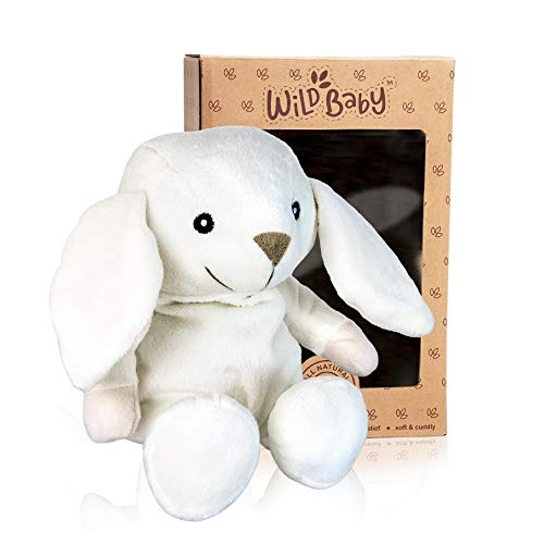 WILD BABY Bunny Rabbit Stuffed Animal - Heatable Microwavable Plush Pal with Aromatherapy Lavender Scent for Kids - 10""