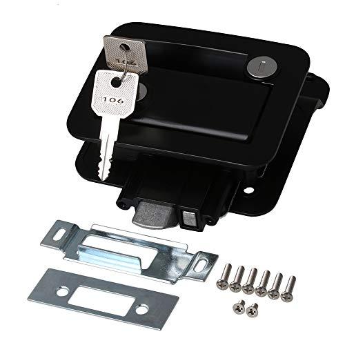 RDEXP Türschloss für Wohnmobil / Wohnmobil, mit Schlüssel, Schwarz