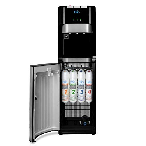 Brio Commercial Grade Bottleless Ultra Safe Reverse Osmosis Drinking Water Filter Water Cooler Dispenser-3 Temperature Settings Hot, Cold & Room Water - UL/Energy Star Approved – Point of Use