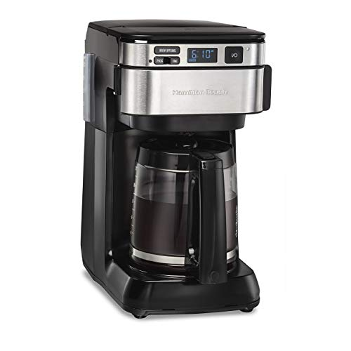 Hamilton Beach 46310 Programmable Coffee Maker, 12 Cups, Black (Renewed)