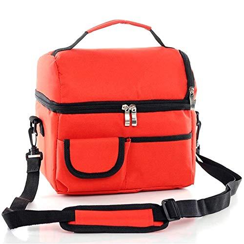 Kühltasche - WENTS 8L Faltbar with Shoulder Strap Kühlkorb Kühlbox Isoliertasche Thermotasche Picknicktasche Lunch-Tasche für Lebensmitteltransport for Office Work Outdoor Camping Travel(Orange)