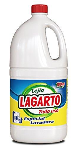 Lagarto Lejía Lavadora - Todo Uso - Paquete De 8 X 2000 Ml - Total: 16 litros, caja 8 botellas