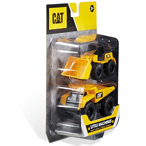 Mondo motorcaterpillar CAT Little Machines | 2 verpakkingen - 2 bouwvoertuigen - kleur geel / zwart - 25510 - Vario