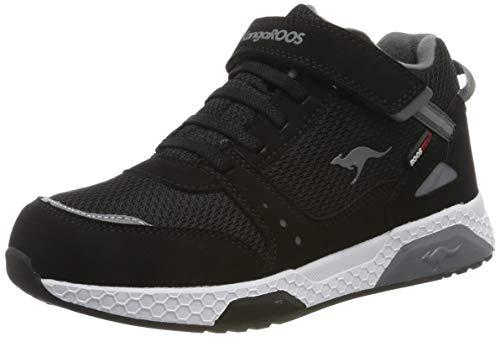 KangaROOS Unisex-Kinder Kadee Taro RTX Hohe Sneaker, Schwarz (Jet Black/Steel Grey 5003), 38 EU